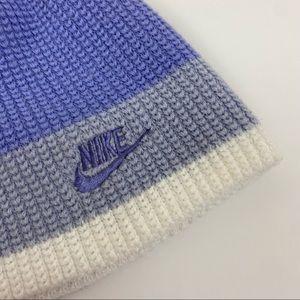 Nike Knit Purple/Lavender Striped Beanie OS